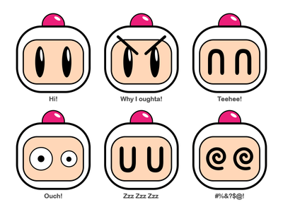 BOMBERmoji's Vol. 1 emoji nes sega genesis super nintendo snes sega nintendo retro video game konami hudson hudson soft bomberman