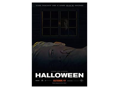'Halloween' 2018 Alternate Poster haddonfield october john carpenter poster blumhouse typography movie poster horror jamie lee curtis michael myers halloween
