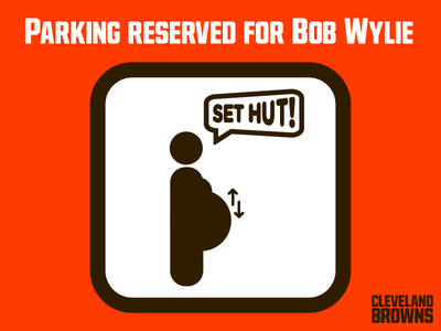 Cleveland Browns | Parking Reserved for Bob Wylie