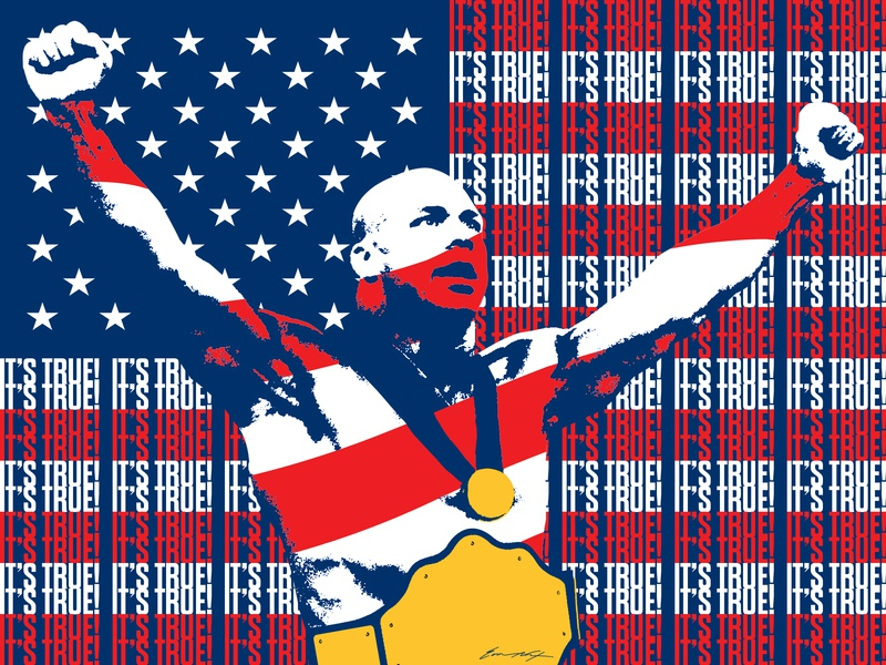 Kurt Angle tna wwf poster typography gold olympics usa wrestling kurt angle wwe