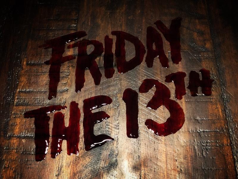 Friday the 13th logo (made in fake blood) michael myers freddy krueger hockey jason kane hodder blood typography horror 80s john carpenter wes craven scream nightmare on elm street jason voorhees friday the 13th