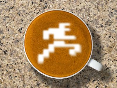 Intellivision   Good Morning atari 70s retro intellivision coffee latte