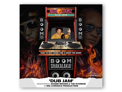 "NBA Jamz - ""Dub Jam"" Album Cover on fire fire album cover album tim kitzrow rap koder brown big chrizzle basketball spotify itunes nba jam"