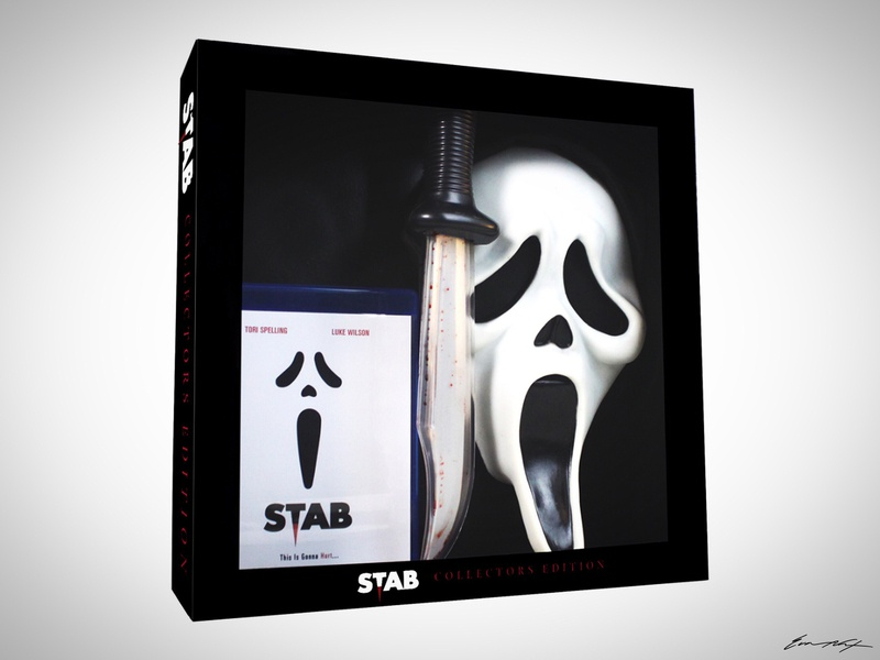 """""""Stab"""" Collectors Edition Box Set miramax ghostface stab packaging box set dvd blu ray horror wes craven scream"""