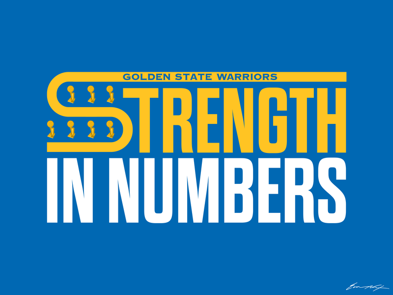 Golden State Warriors | Strength in Numbers demarcus cousins draymond green klay thompson kevin durant steph curry nba basketball typography warriors golden state warriors