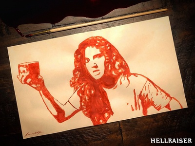 Hellraiser | Ashley Laurence (painted in blood)