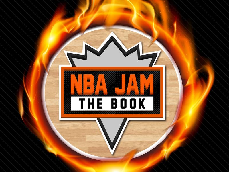 NBA Jam: The Book (Twitter logo graphic) magic johnson kobe bryant jordan micheal jordan book fire 90s super nintendo nintendo sega genesis sega arcade retro basketball nba jam nba