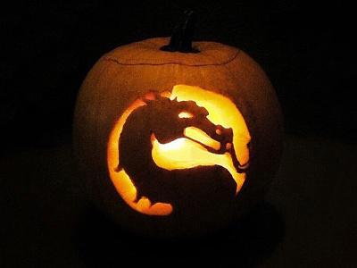 Mortal Kombat Pumpkin neatherealm minimal jack o lantern mortal kombat 11 90s arcade sega genesis sega midway super nintendo snes halloween pumpkin mortal kombat
