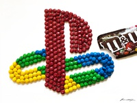 PlayStation (PS1) logo (out of 270 M&M's)