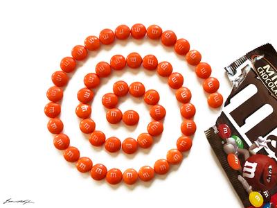 Sega Dreamcast logo (made of M&M's)