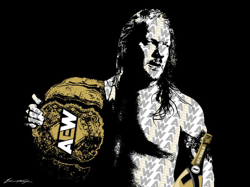 Chris Jericho champagne bubbly wwe wwf wcw chris jericho wrestling aew