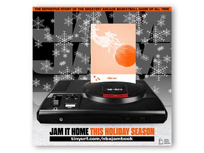 NBA Jam: The Book – Holiday Social Media Ad book social media ad sega genesis sega basketball nba jam nba