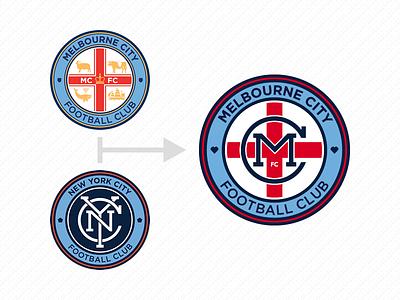 Melbourne City FC football soccer logo sport