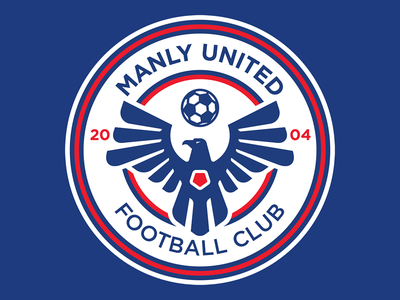 Manly United Football Club eagle crest logo soccer football