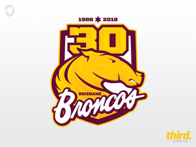 Brisbane Broncos 30 year logo concept broncos brisbane league rugby logo