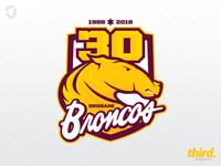 Brisbane Broncos 30 year logo concept