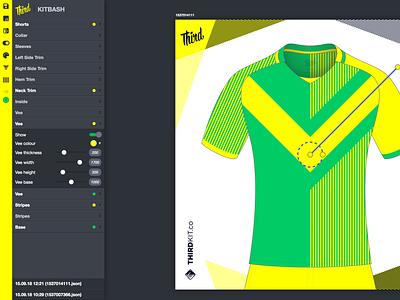 Custom design tool jersey ui design