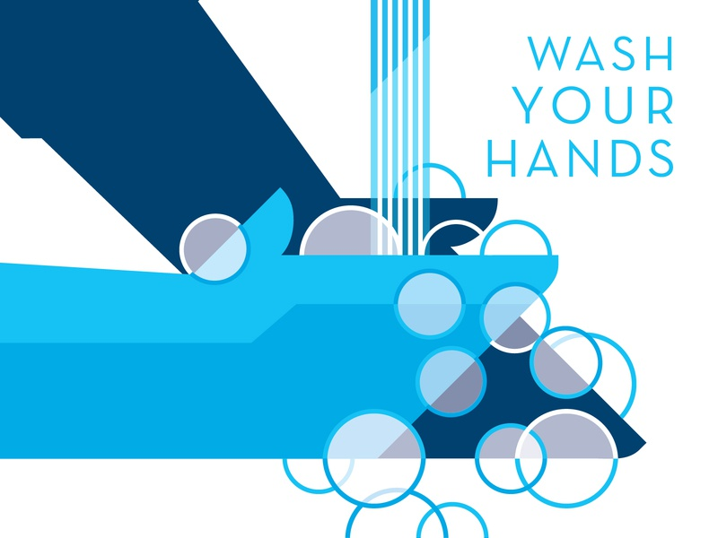 Wash your hands wash hands design illustration vector