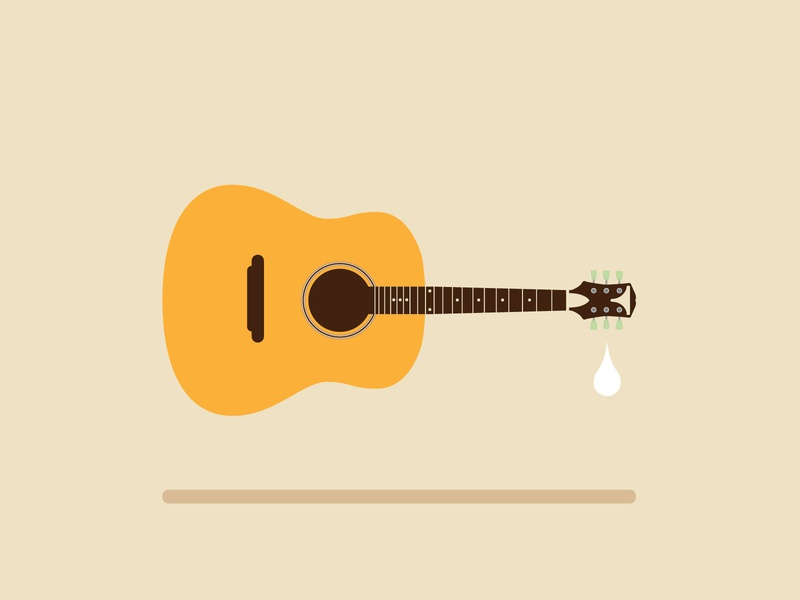 RIP John Prine illustration vector guitar