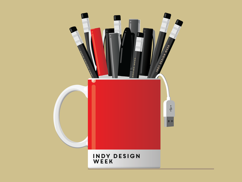 Indy Design Week 2020 illustration vector the100dayproject aigaindianapolis indydw2020 indydwthrowdown