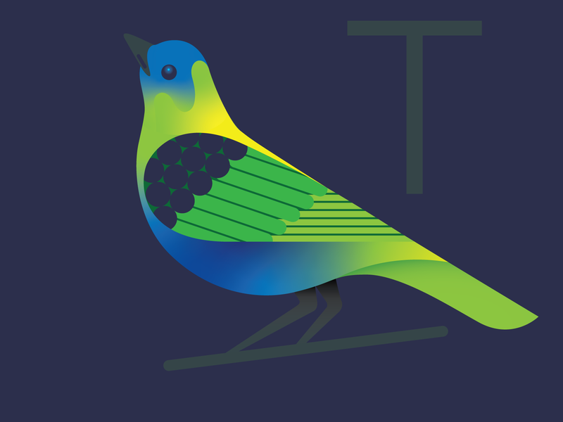 Tanager illustration vector bird