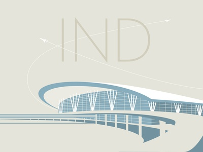 21 IND airport limited palette airport indy illustration vector the100dayproject