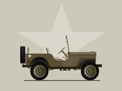 US Army Jeep illustration vector u.s. army military jeep