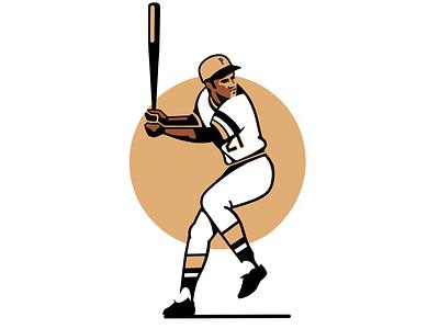 Roberto Clemente illustration procreate ipadpro roberto clemente pirates pittsburgh baseball