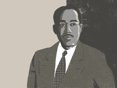 Langston Hughes texture illustration procreate ipadpro black lives matter poet writer portrait langston hughes