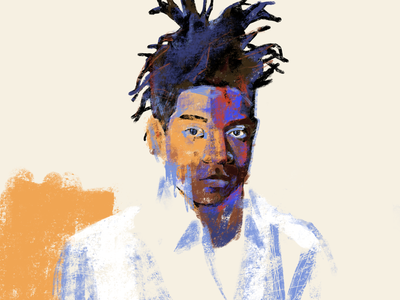 Basquiat black lives matter portrait procreate ipadpro illustration