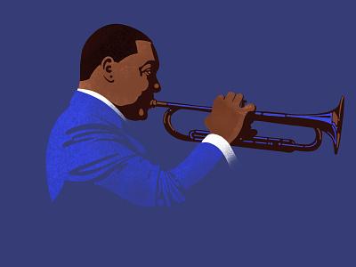Wynton Marsalis ipad procreate ipad pro illustration portrait trumpeter trumpet jazz wynton marsalis