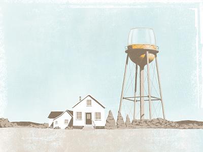 Wine tower procreate illustration winecountry winelover winetasting winery wine