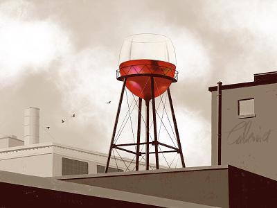 Wine tower (Cabernet) illustration winecountry winelover winetasting winery wine