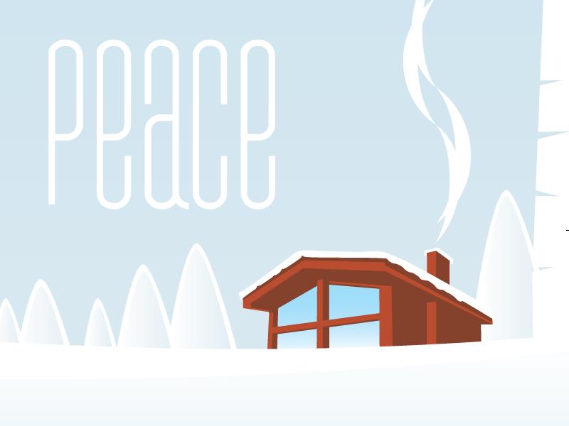 Cabin winter tree snow cabin