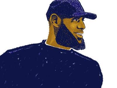 King of the Shop illustration drawing procreate ipadpro the shop king james lebron james lebron