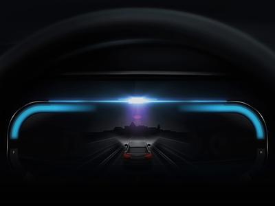 MG Production Car HMI dashboad transition interaction futuristic speedometer ui ux visual automotive design vehicle driving car dashboard automotive hmi cluster car ui car animation motion
