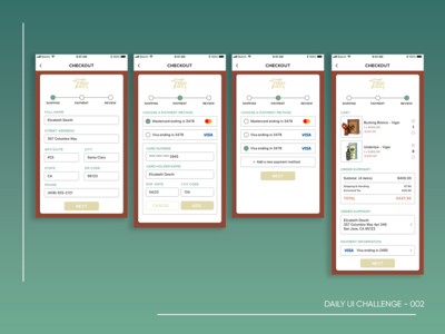 Daily UI 002 - Checkout