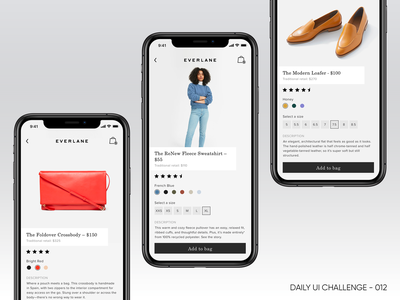 Daily UI 012 - Single Product minimal everlane product page shop design photoshop ui sketch daily ui challenge design