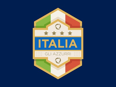 Italia football badge shield logo italy italia football soccer patch badge