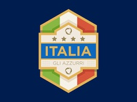 Italia football badge