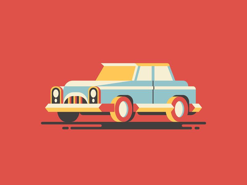 Retro Car Illustration antique 1950s 1960s wheels old automotive automobile engine transportation classic auto transport vehicle vintage car retro retrocar retro car