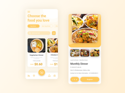 Food And Cuisine apps design