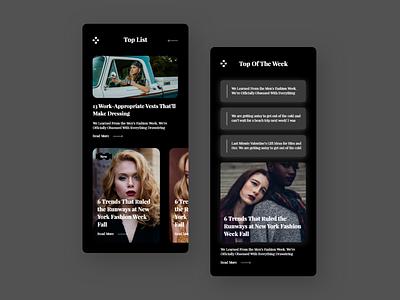 Fashion Tips mobile apps fashion app trend ui ux ui ux colour clean color android app design appdesign ios app design android app android