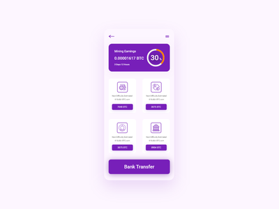 btc product that manages your bank transfer btc ux interaction design user experience mobile screens ios app design mobile apps design bank transfer btc product payment app app design app