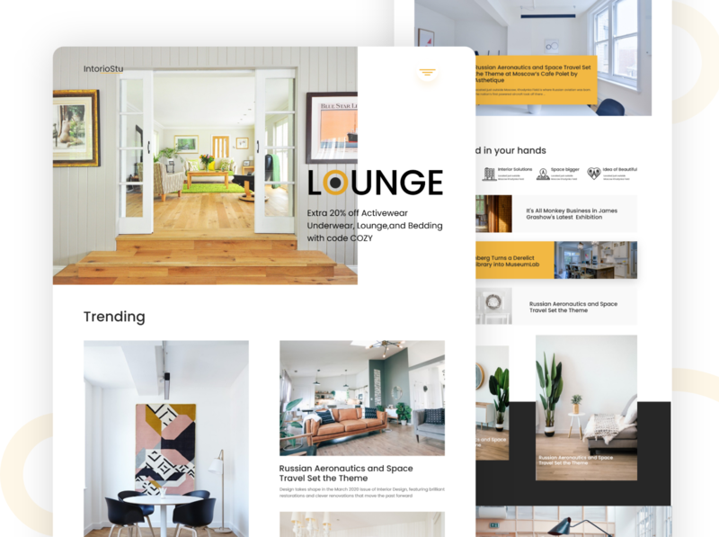 IntorioStu landing page website designing interior design product design user experience user interface design user interface app web ui icon ux typography illustration website website design and development website design