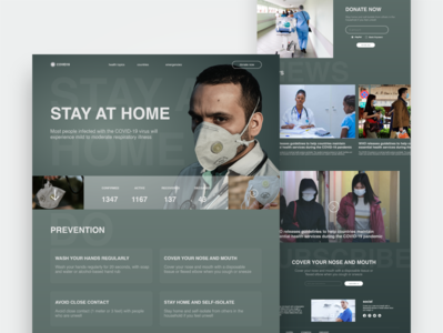 Covid-19 Awareness Landing Page covid-19 awareness web learning healthcare landing page website ui ux typography logo branding coronavirus