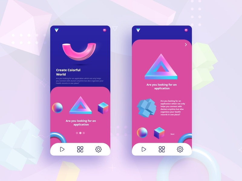 3D Shape create Apps UI ux icon mobile app design mobile apps website illustration branding ui vector shape elements 3d illustration 3d modeling shapes