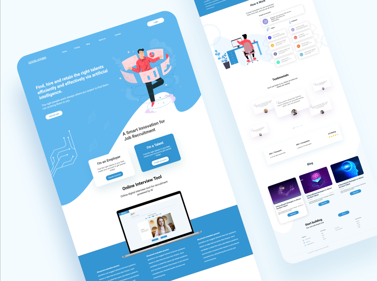 Job Searching Landing Page By Aich Design On Dribbble