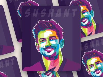 Sushant Singh Rajput Wpap Illustration poster poster design wpap pop branding typography portrait vector illustrator illustration design graphic ssr sushant