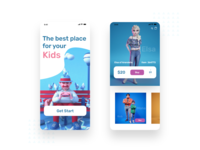 Baby toys store apps design mobile apps interaction ui ux 3d illustration 3d ui illustrator branding vector apple toys store baby toys apps design application app design design app design